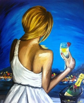 Artist: Helen Duchonova - Title: Lady love champagne - Medium: Oil Painting - Year: 2013