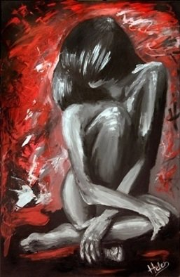 Artist: Helen Bellart - Title: shy lady - Medium: Acrylic Painting - Year: 2012