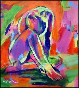 Acrylic Painting by Helena Wierzbicki titled: Sorrows, 2014