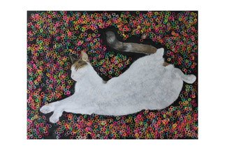 Animals Mixed Media by Helen Purcell Title: Yesterdays News, created in 2014