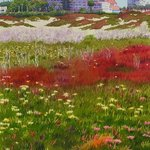 Beach Flowers at the Del by Mary Helmreich By Mary Helmreich