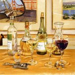 California Wine And Watercolors By Mary Helmreich, Mary Helmreich