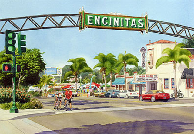 Mary Helmreich  'Encinitas California By Mary Helmreich', created in 2009, Original Printmaking Giclee.
