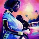 MOTHER AND CHILD By Henry Anaje