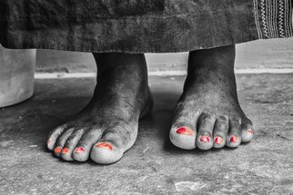 Herman Van Bon: 'african feet', 2018 Black and White Photograph, Culture. Artist Description: African Feet was first exhibited during the UNESCO exhibition  The Invisible Visible  in Oslo in December 2016 January 2017. Since then touring the world. The original print on canvas is still for sale in a limited edition of 10  7 sold already ...