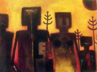 Artist: Monica Mackenzie - Title: La Familia Ancestral - Medium: Acrylic Painting - Year: 2011