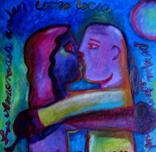 Artist: Monica Mackenzie - Title: Los Amorosos The lovers - Medium: Acrylic Painting - Year: 2012