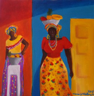 Artist: Monica Mackenzie - Title: women from Colombia - Medium: Acrylic Painting - Year: 2012