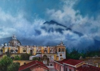 Artist: Hugo Gramajo - Title: Cielo de Antigua - Medium: Acrylic Painting - Year: 2015