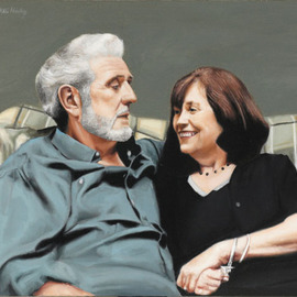 Matthew Hickey: 'Anniversary', 2002 Oil Painting, Portrait.
