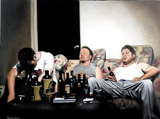 Culture Oil Painting by Matthew Hickey Title: At rest, created in 2001