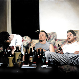 Matthew Hickey: 'At rest', 2001 Oil Painting, Culture. Artist Description: oil on canvas...