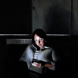Matthew Hickey: 'Screen Time: Sarah 2', 2011 Oil Painting, Culture.