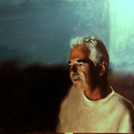 Matthew Hickey Artwork Television light 3 Mike, 2006 Oil Painting, Meditation