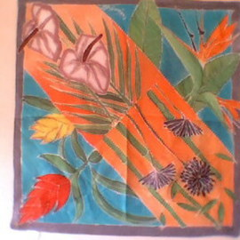 Heather Garafano Artwork Tropical Flowers, 2013 Other Painting, Floral