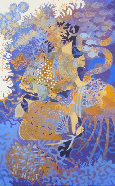 Hilary Pollock  'The Reef Downunder B', created in 2010, Original Digital Print.