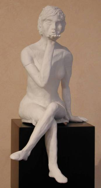 Bob Hill  'Blowing A Kiss', created in 2002, Original Woodworking.