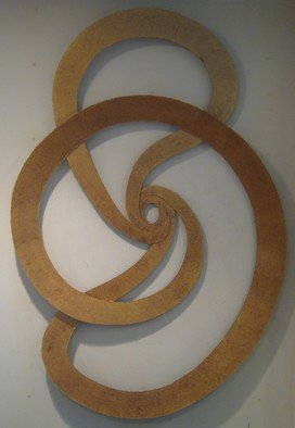 Bob Hill: 'Cycle of Life', 2008 Steel Sculpture, Abstract. Artist Description:  Here is a wonderful flowing wall sculpture with a rich gold and bronze patina. ...