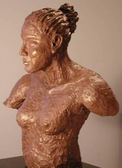 Artist Bob Hill. 'Earth Maiden' Artwork Image, Created in 2002, Original Woodworking. #art #artist