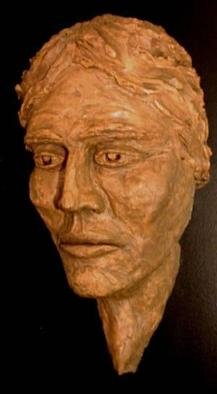 Bob Hill: 'Fate', 2003 Ceramic Sculpture, Visionary. This larger- than- life, wall- hung bust is haunting and powerful. . . what vision, what fate, has captured this soul? ...