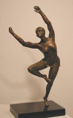 Bronze Sculpture by Bob Hill titled: Joy of Spring, created in 2000