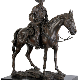 Fernando  Andrea: 'Bronze Sculpture General George Armstrong Custer ', 2012 Bronze Sculpture, History. Artist Description: