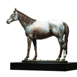 polychromed bronze sculpture By Fernando  Andrea