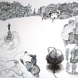 Carlos Pardo Artwork Projecting the future, 2011 Other Drawing, Cityscape