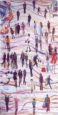 Carlos Pardo Artwork Rambla boulevard, 2002 Oil Painting, Cityscape