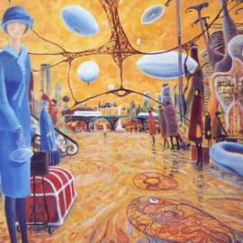 She and the dirigibles Voyage to other time