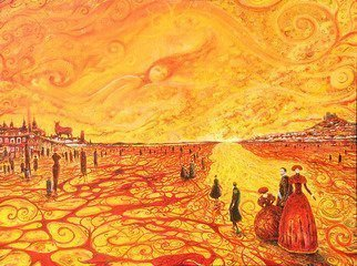 Artist: Carlos Pardo - Title: Spain facing uncertainty - Medium: Oil Painting - Year: 2013