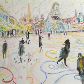 Carlos Pardo Artwork The Big Eye , 2010 Other Drawing, Cityscape