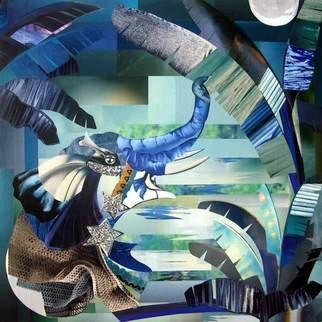 Animals Collage by Helene Donadieu titled: Mille et une nuits, created in 2007