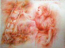 - artwork Jacobs_ladder-1365689821.jpg - 2013, Drawing Pencil, Figurative