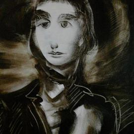 Waldemar A. S. Buczynski: 'Young Horatio Nelson', 2011 Acrylic Painting, Figurative. Artist Description:  Detail from a preparatory sketch.                ...