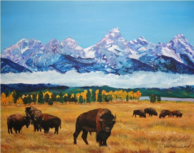 Lisa Hoffmann  'Grand Teton Sentinel', created in 2011, Original Painting Other.