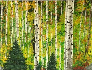 Lisa Hoffmann Artwork quaking autumn, 2017 Acrylic Painting, Trees