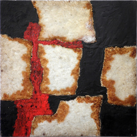 Hannes  Hofstetter: 'cross catalysis', 2003 Other Painting, Science. Artist Description: Catalysis, workgroup Crosses, Salt fixed with acrilic, linseed oil on plywood...