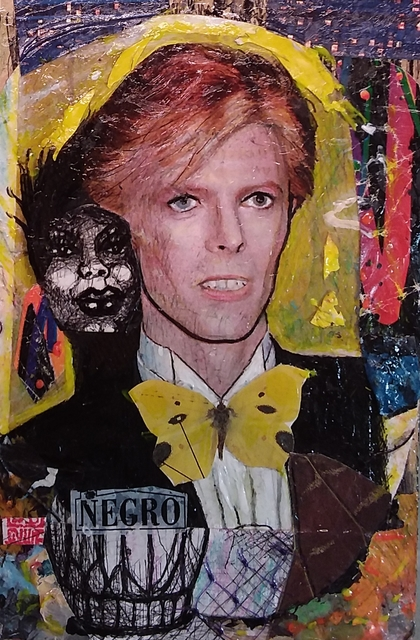 Hampton  Olfus   'Bowie El Negro', created in 2018, Original Giclee Reproduction.