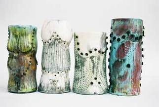 Holly Nussbaum Williams: 'Torture and Beauty', 2007 Other Ceramics, Abstract Figurative.  Raku fired with nails  ...