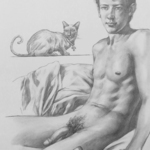 man and cat By Hongtao Huang