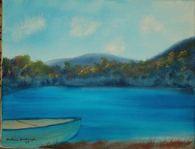 Barbara Honsberger  'Boat By The Lake', created in 2007, Original Painting Oil.