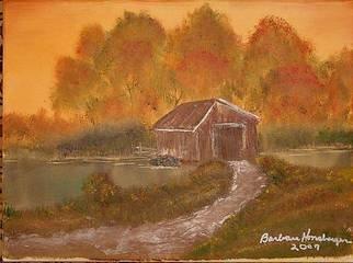 Barbara Honsberger Artwork Covered Bridge, 2009 Oil Painting, Landscape