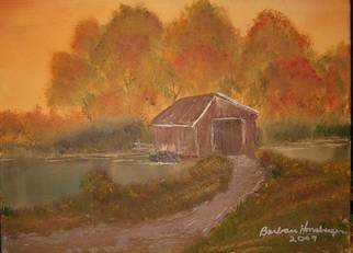 Barbara Honsberger Artwork Covered  Bridge, 2007 Oil Painting, Landscape