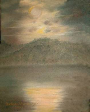 Barbara Honsberger Artwork Misty Moonlight, 2009 Oil Painting, Landscape