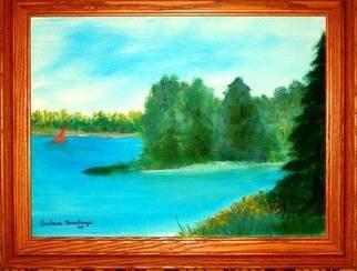 Barbara Honsberger Artwork Mountain Lake, 2008 Oil Painting, Landscape