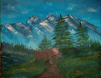 Barbara Honsberger Artwork Mountain Shack, 2008 Oil Painting, Landscape