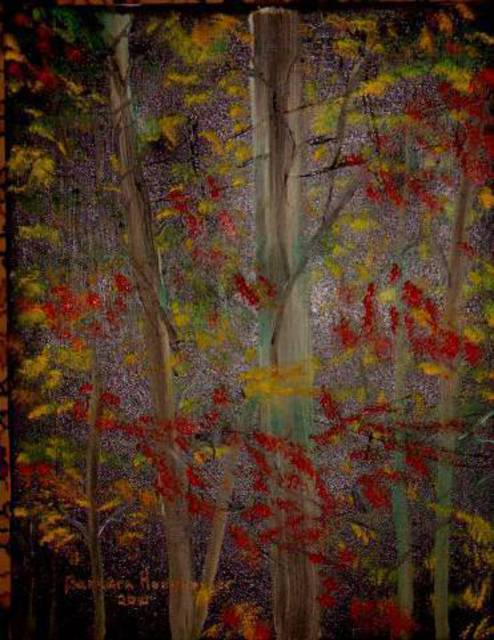 Barbara Honsberger  'Woodlands', created in 2008, Original Painting Oil.
