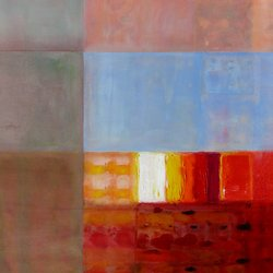 , Sunset On The Piazza, Abstract, $3,150