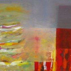 , Color Storm On The Corner, Abstract, $2,205